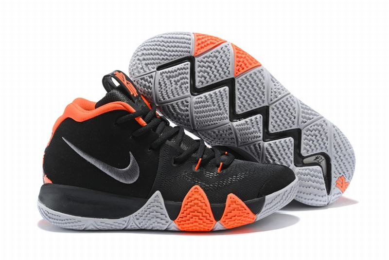 New Nike Kyire 4 Black White Orange